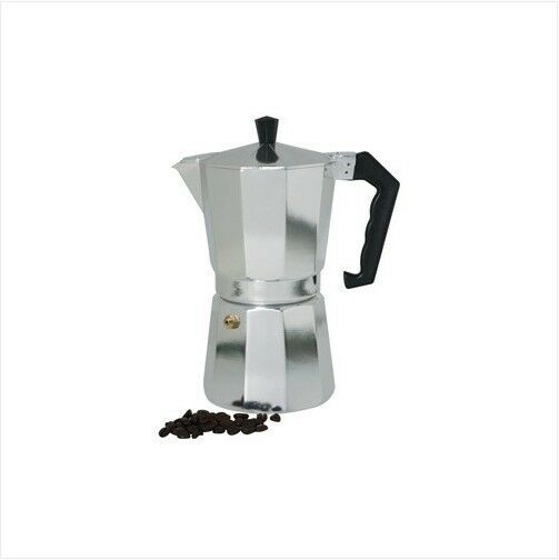 Aluminum Latte Cappuccino Coffee Pot Stovetop Espresso Maker 3 6 9 Cups Size