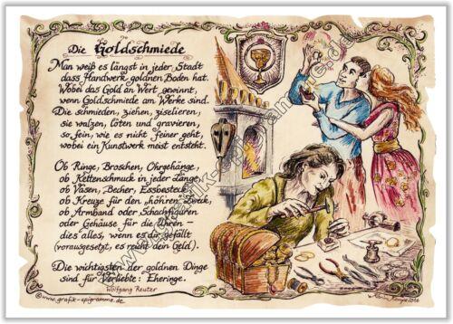 Geschenk Goldschmiede Gedicht Goldschmiede Goldschmied Präsent Jubiläum