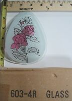 Free Us Ship Ok Touch Lamp Replacement Glass Sm Flower Rose Butterfly 603 4r