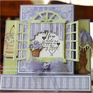 Window-With-Flower-Dies-Scrapbooking-Card-Making-Album-Embossing-Diecut-Stencil