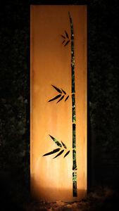 Gartenwand Sichtschutz Wand Bambus Stahl Rost 54x195 Cm Ebay