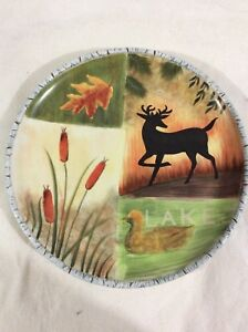 "Susan Winget Certified International Serving Dish 12"" Deer Lake Cat ..."
