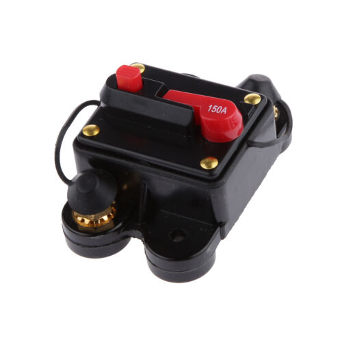 2stk 12V//80A  Automatische Sicherung Schalter für Auto Kfz LKW Boot Schwarz