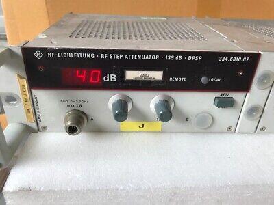 HF-Eichleitung Rohde /& Schwarz RF Step Attenuator 139db 334.6010.02