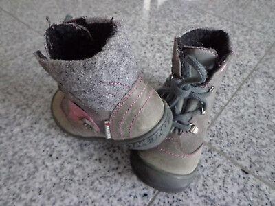 Richter Mädchen (Winter-) Stiefel; Gr: 22; Grau; Gefüttert