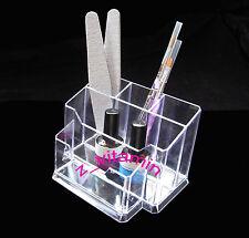 Nail Art Tools Holder Box Files Organizer Polish Brush Plastic Case Makeup Tool