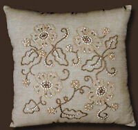 Candlewicking Embroidery Kit Design Works Jacobean Patterned Pillow Dw3005