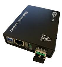Copper to Fiber SNS Gigabit Ethernet Fiber Media Converter 10//100//1000M RJ45 to 1.25Gb//s SFP Slot up to 120KM