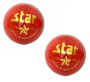 Match Cricket Ball Genuine Leather Hand Stitched 4Pieces Stitch  5 1//2 UK SELLER