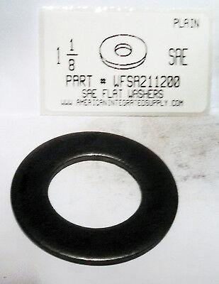 """1-1//8/"""" SAE Flat Washers Steel Plain 1-3//16/""""IDx2-1//4/""""OD 7 Nominal"""