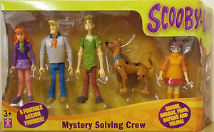 Scooby-Doo-Mystery-Solving-Crew-5-Poseable-Action-Figure-Pack