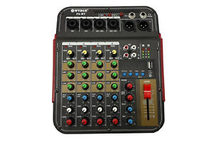 Consolle-mixer-audio-professionale-6-canali-usb-karaoke-mic-line-mp3-F6-BT
