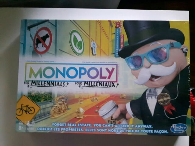 Monopoly for Millennials Millenials Board Game Ages 8+ Hot Christmas Toy NEW