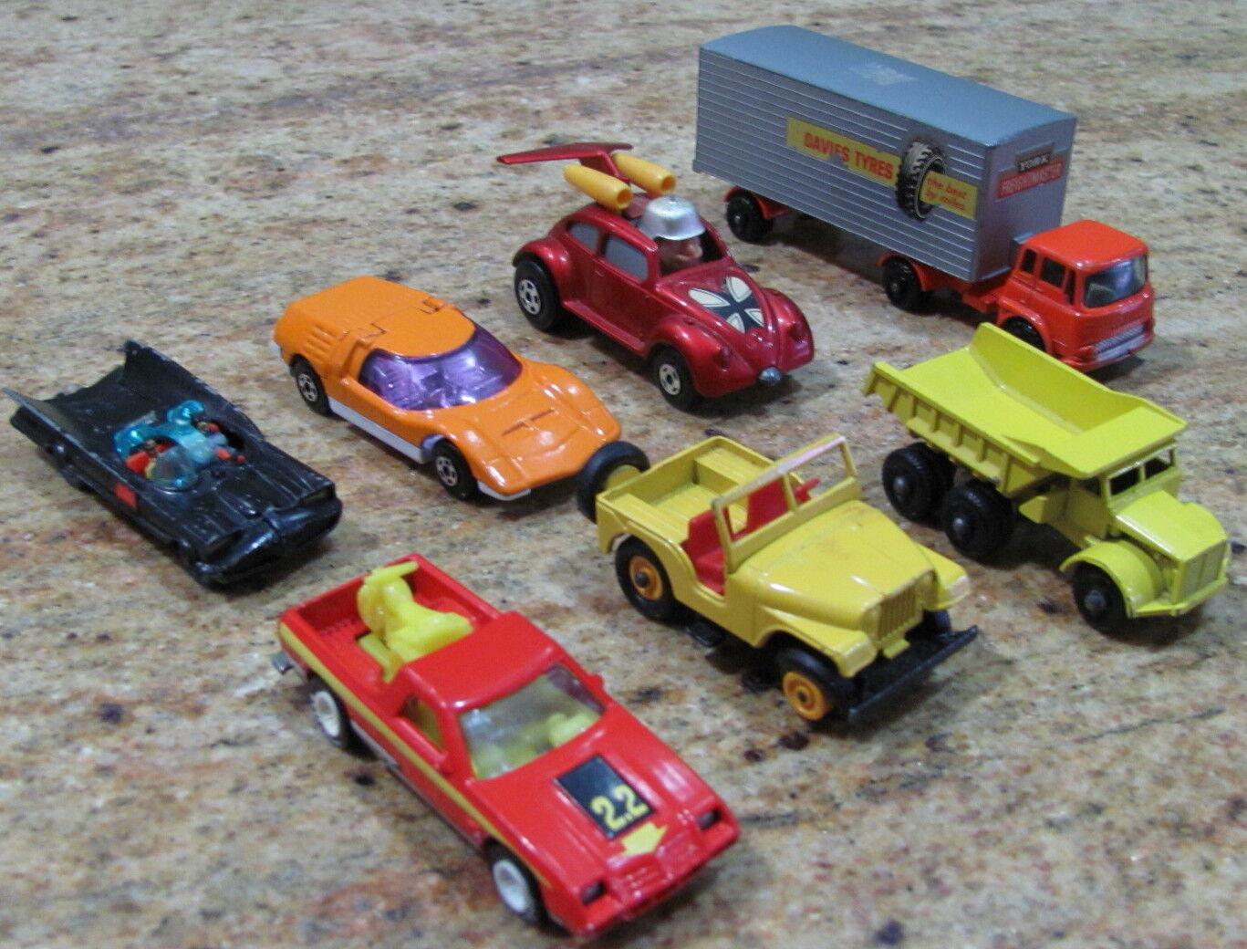 Lot of 5 Lesney Cars Hot Wheels & 1 Batman Die Cast Toy Vehicles, USC