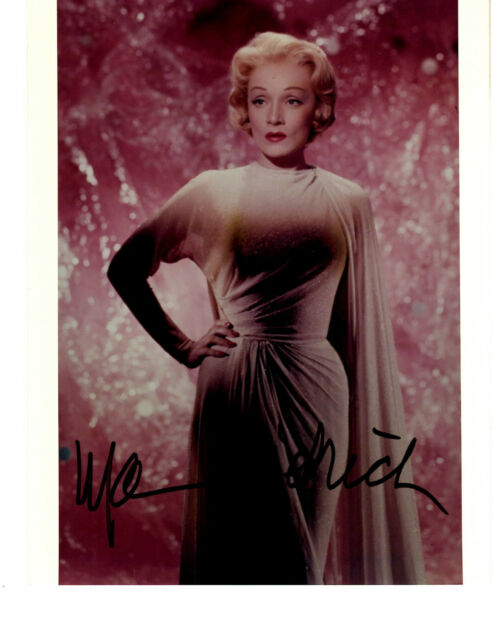 Marlene Dietrich Signed Autographed Photo Picture Color, Melchior Estate