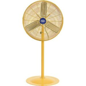 Details About New Deluxe Oscillating Pedestal Fan 30 Inch Dia Safety Yellow 1 2hp 10000cfm