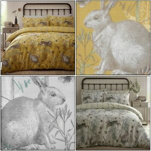Pradera-de-conejo-Animal-Print-naturaleza-pais-comprobar-Cubierta-Del-Edredon-Edredon-cubierta-Juego