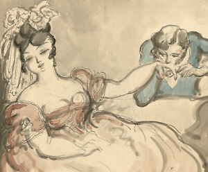 Harold Hope Read (1881-1959) - Pen and Ink Drawing, The Suitor