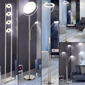 LUXE-LED-Plafonnier-Chambre-a-coucher-graduateur-au-CHROME-LAMPES-SUR-PIED