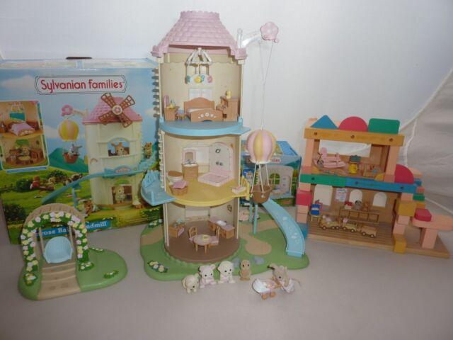 SYLVANIAN FAMILIES PRIMROSE BABY WINDMILL / NURSERY + BOX,FIGURES,FURNITURE ETC