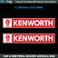 KENWORTH-Trucks-Logo-Stickers-x2-22cm-Truck-Toolbox-Garage-Window-Decal-K004