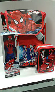 SCHOOL-PACK-ZAINO-SEVEN-SDOPPIABILE-SPIDERMAN-ASTUCCIO-3-ZIP-SPIDERMAN-30-CM