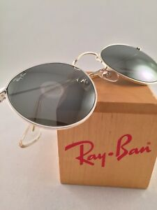 2e457a53d2de Vintage Ray Ban Bausch and Lomb W2248 Silver G31 Mirror Round ...