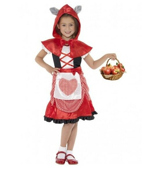 GIRLS LITTLE MISS RIDING HOOD COSTUME - 7-9 YRS - MELBOURNE LOCATION
