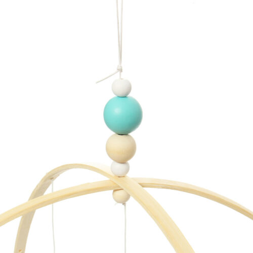 Muti-color Baby Crib Wooden Beads Mobile Bed Bell Holder Arm Bracket DIY Toys