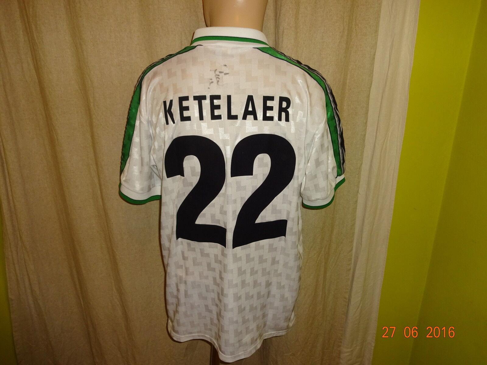 Borussia Mönchengladbach Reebok Limitiertes Trikot 1998/99 + Nr.22 Ketelaer Gr.M