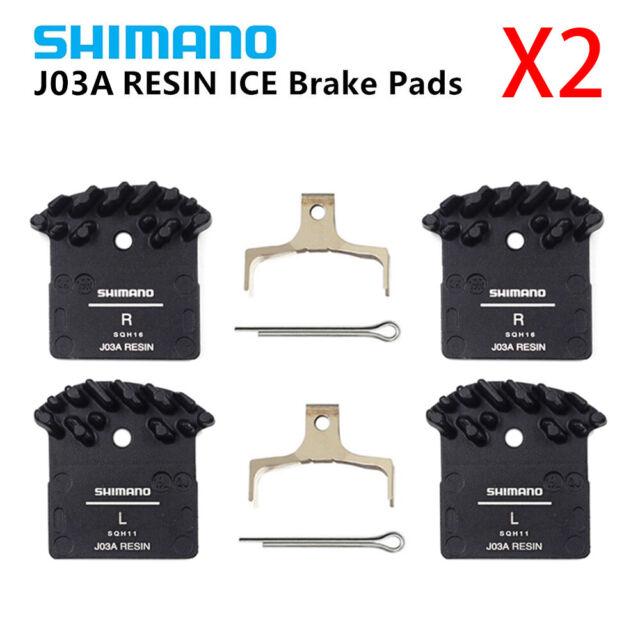 2Set Shimano J02A Disc Brake Pad Ice Tech Resin Cooling Fin XT XTR SLX Deore New