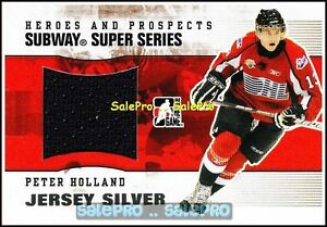 ITG-HEROES-amp-PROSPECTS-2009-PETER-HOLLAND-NHL-RC-SUBWAY-SILVER-SUPER-GAME-JERSEY