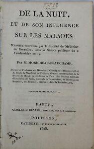 De La Nuit Et De Son Influence Sur Les Maladies 1808