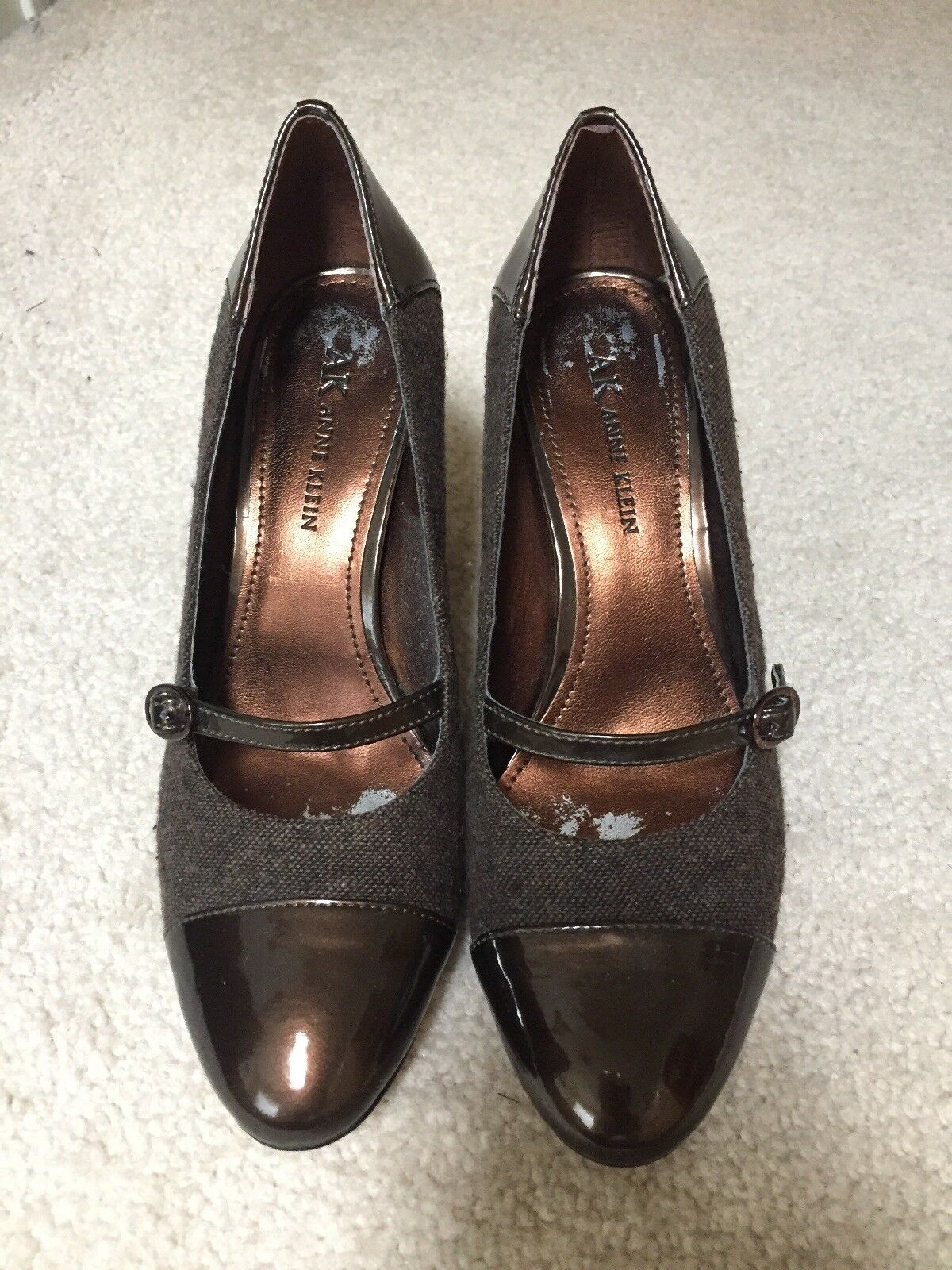 AK Anne Klein Shoes Size uppers 6 Sweet PEA Fabric uppers Size with Patent Leather Pumps 1a5832