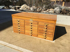 Vintage Globe-Wernicke Oak document file cabinet series 3300 18 drawers