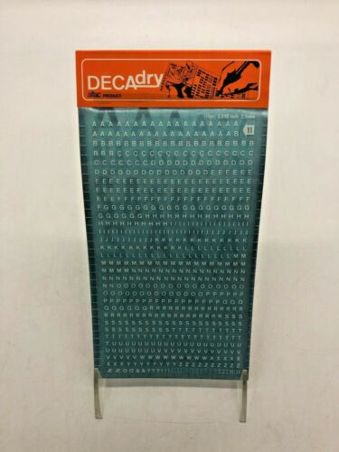 0.098 Inch White 2.5 mm DECAdry Transfers No 11 10 pt
