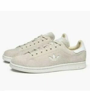 Adidas-Men-s-Stan-Smith-Plush-Suede-Linen-cloud-White-Originals-B37903-Size-11