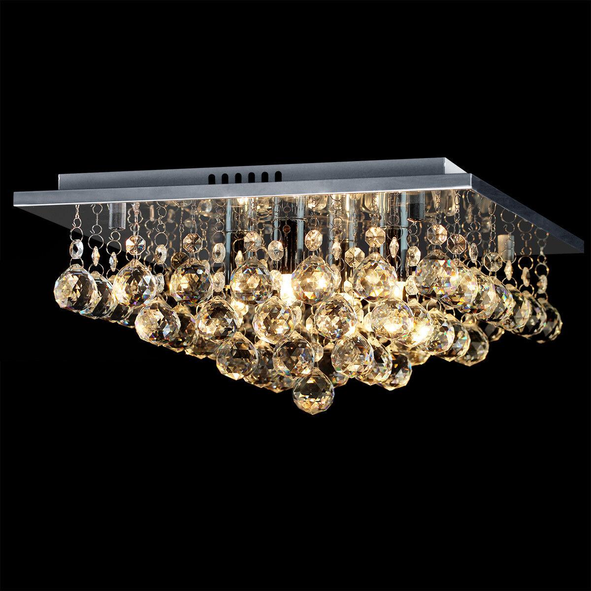Modern LED Crystal Droplet G9 Chandelier Classic Elegant Ceiling Light M0062