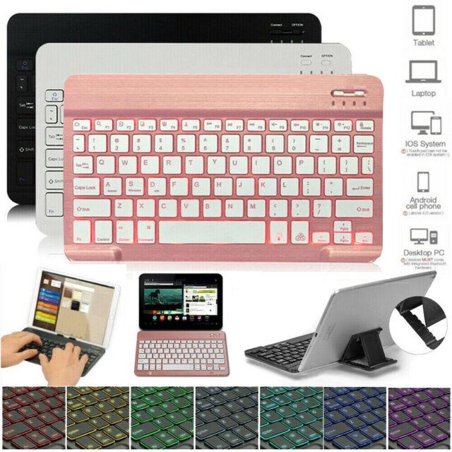 US Slim Backlit Wireless Bluetooth Keyboard For iPad Pro ...