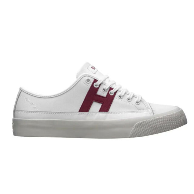 HUF Hupper 2 LO Sneakers White Mens Canvas Leather Skateboarding Shoes