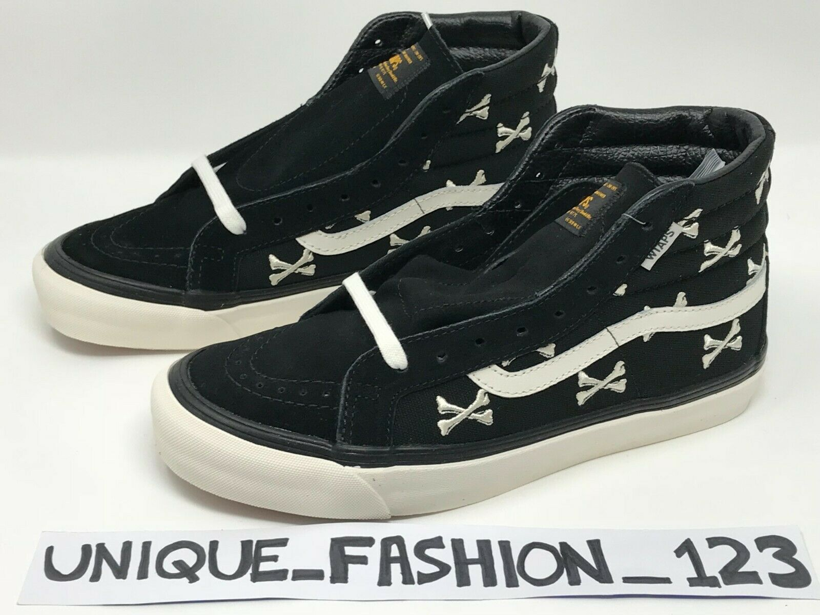 VANS WTAPS BONES OG SK8 HI LX US 10.5 UK 9.5 44 BLACK WHITE WHISP 2016 VAULT