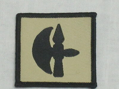 Temperate 102th Logistic Brigade,rlc khaki,fabric Badges,patch,army Formation Badge #1 Sufficient Supply Militaria