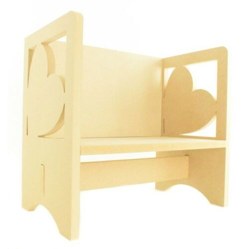 Childrens Wooden Heart Themed Bookends Kids Toddlers Childs Nursery Furniture