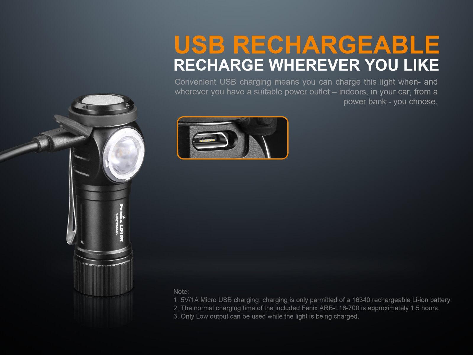 New Fenix LD15R Cree XP-G3 XP-G3 XP-G3 500 Lumens Everlight rojo LED Flashlight (NO battery) 522af0