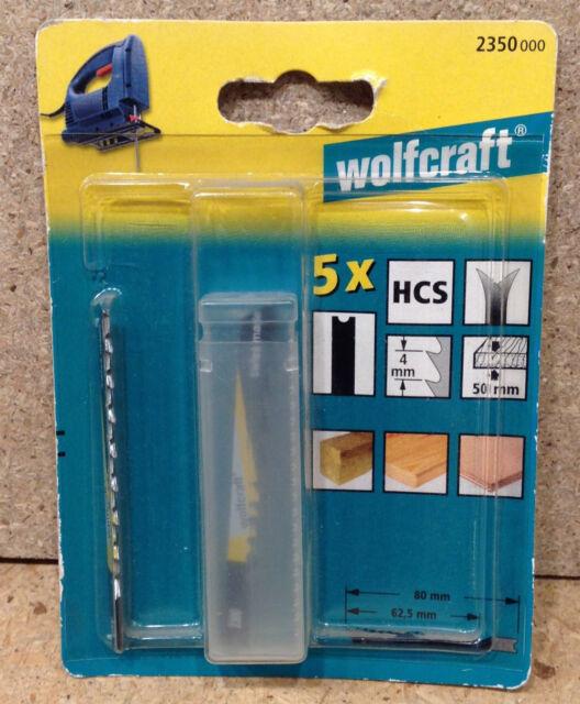 Wolfcraft 5 Holz - Stichsägeblätter U- Schaft HCS  2350000