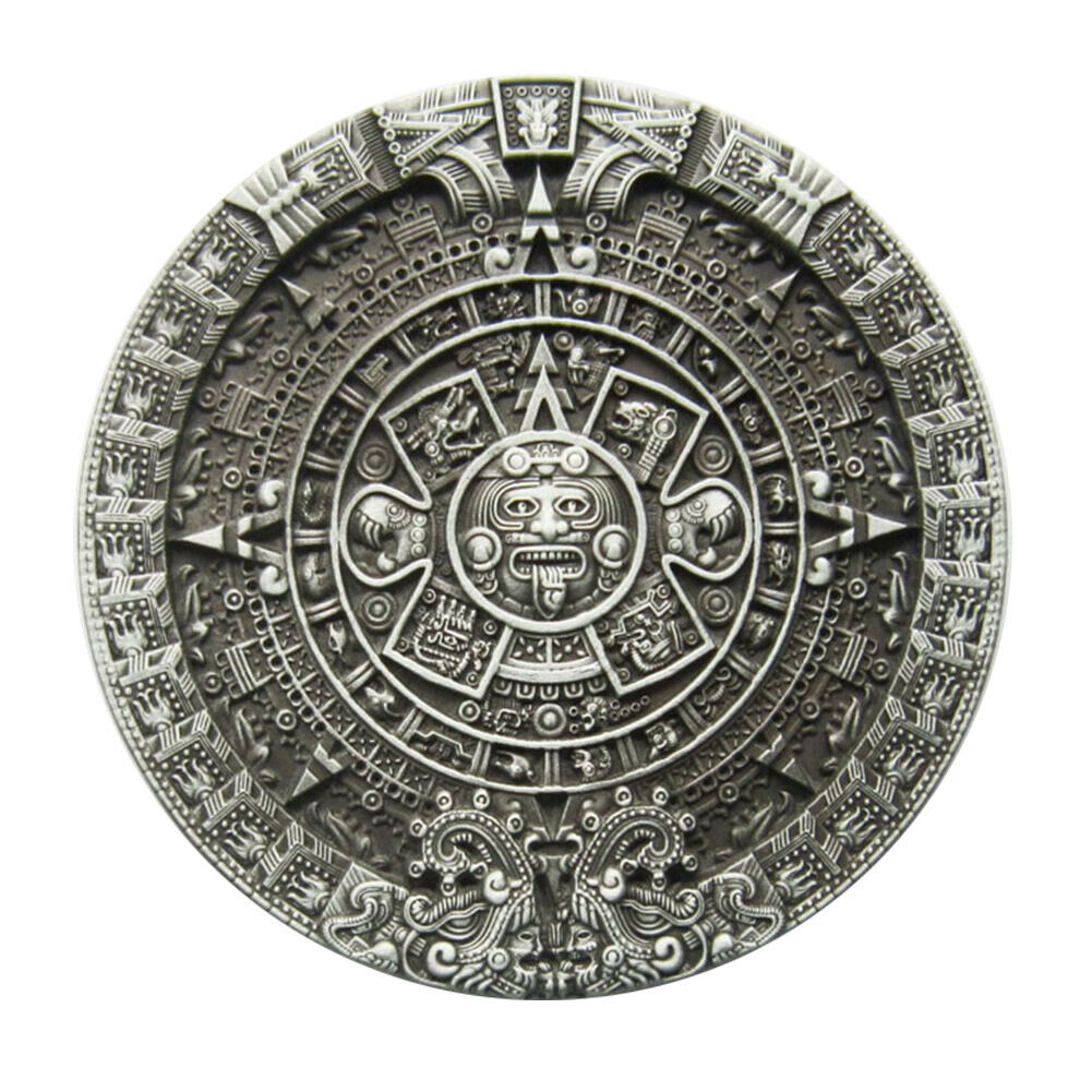 Aztec Calendar I Gürtelschnalle Symbol Sign Maya Azteken Kalender Indianer