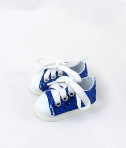 """Doll Clothes 14.5/""""  Sneakers Shoes Blue White Fit 14.5/"""" AG WELLIE WISHER DOLLS"""