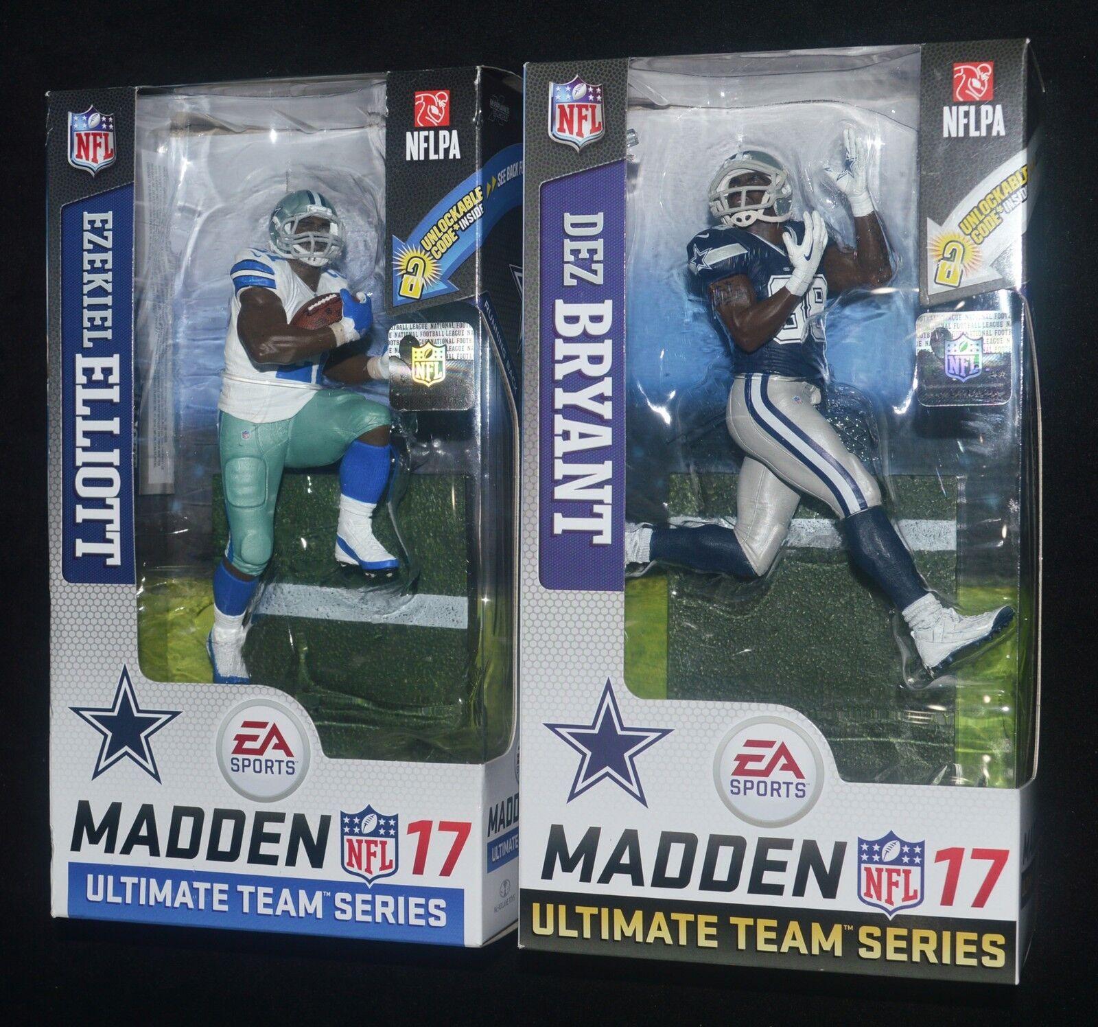RB EZEKIEL ELLIOTT & WR DEZ BRYANT Dallas Cowboys NFL Madden 17 EA Sports MIP