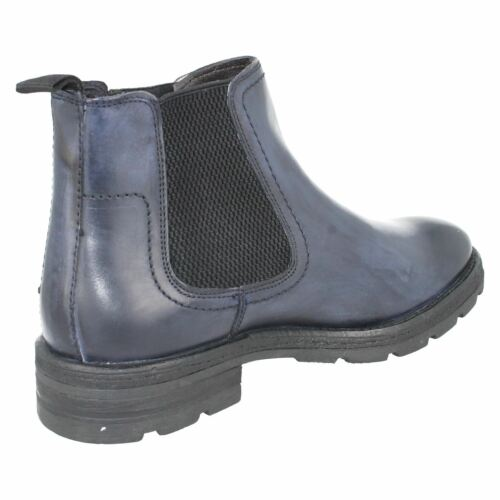 Base London /'Challenger/' Mens Navy Pull On Chelsea Boots
