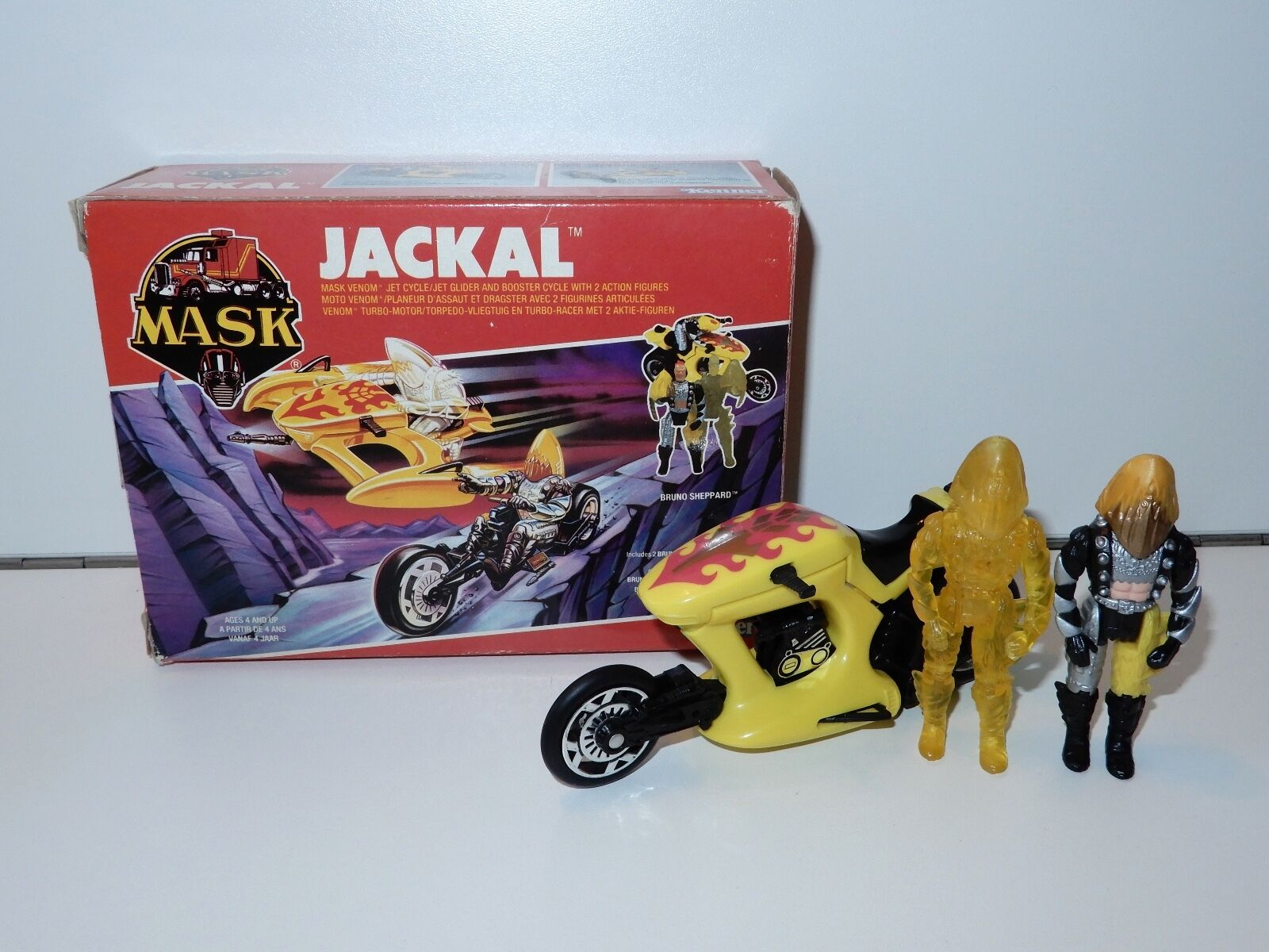 M.A.S.K - BARRACUDA JACKAL JET CYCLE 100% COMPLETE MIB KENNER